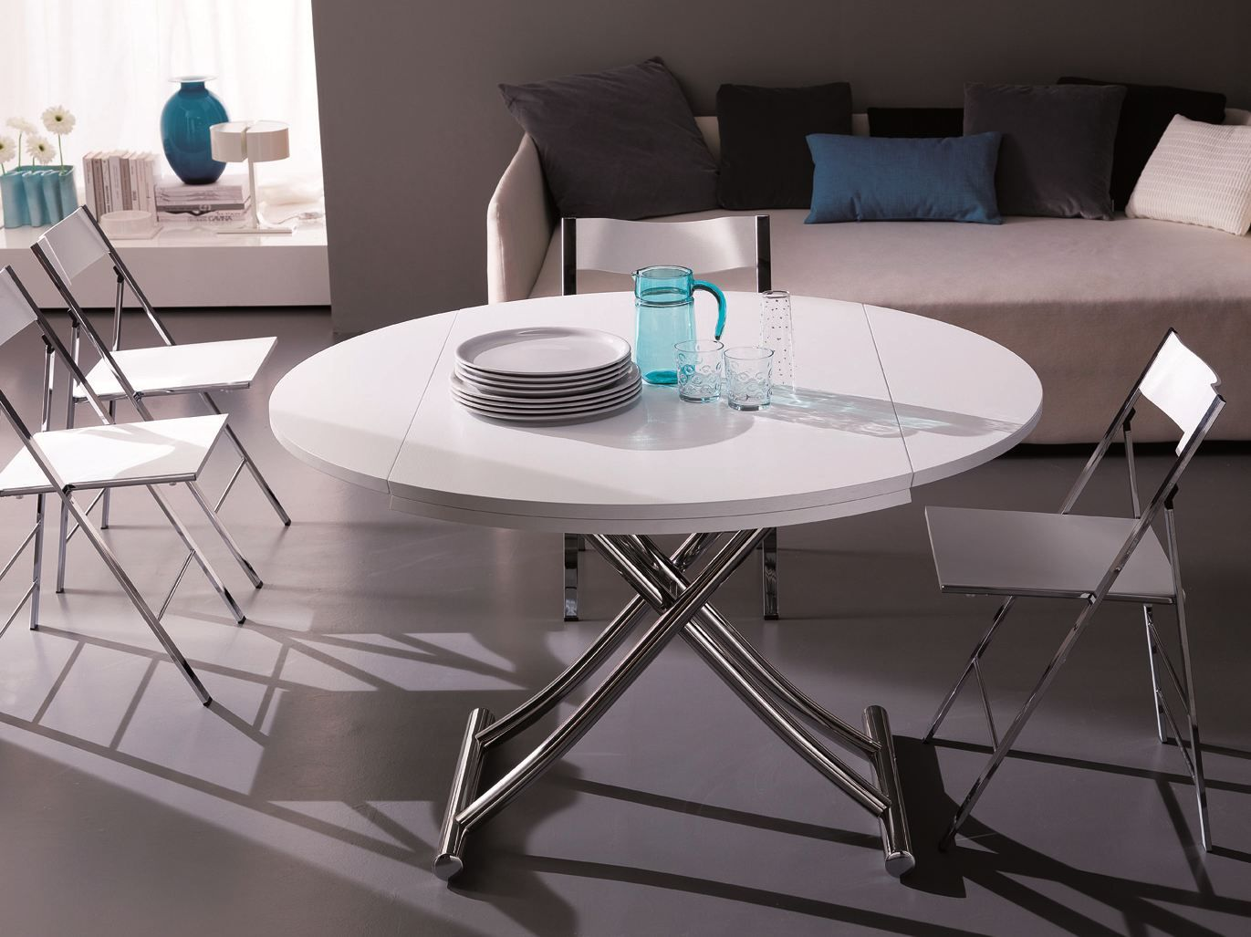 globe | height-adjustable coffee table by ozzio design | design