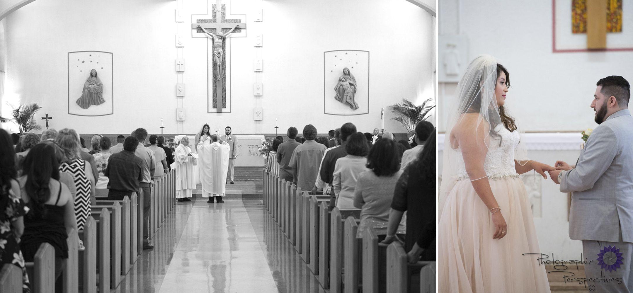 St. Therese Catholic Church Wedding Ceremony Albuquerque