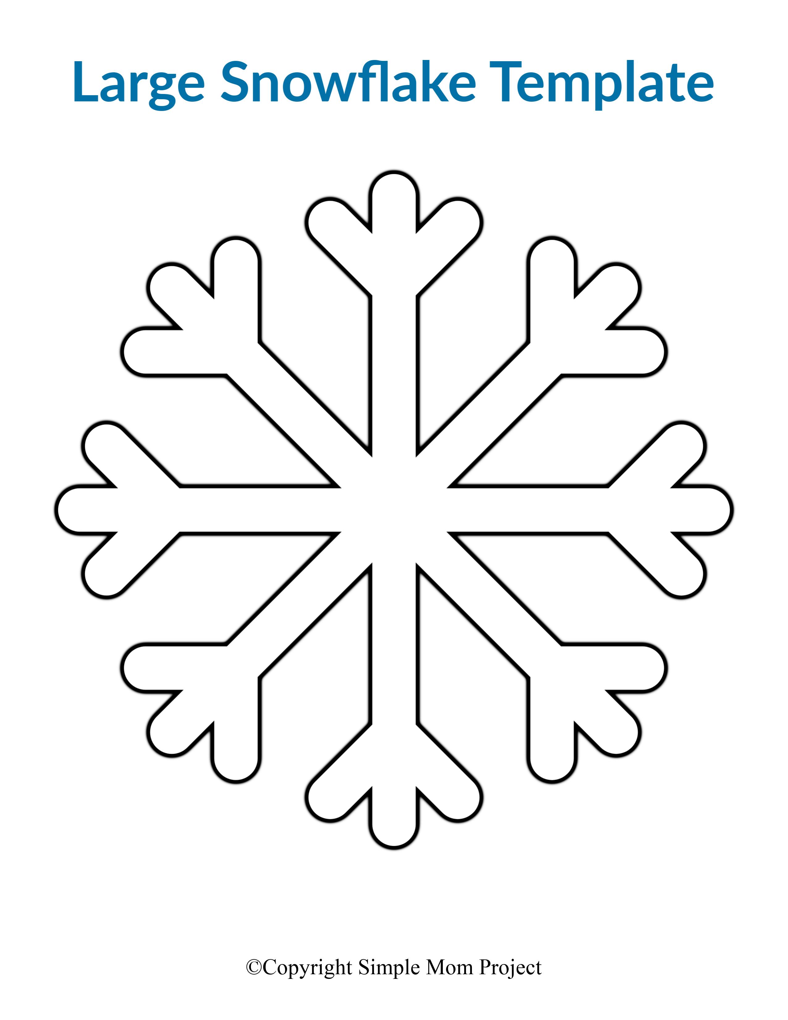 8 Free Printable Large Snowflake Templates Simple Mom Project In 2020 Snowflake Template Simple Snowflake Paper Snowflake Patterns