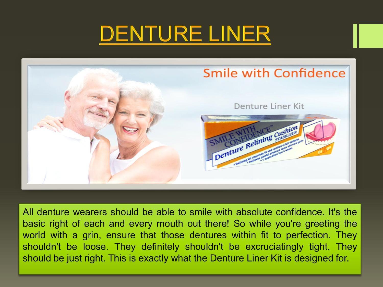 Dentures liner plastic strip
