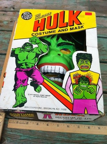 Vintage Halloween Costumes In A Box.Vintage Halloween Costume Box Ben Cooper The Incredible Hulk Child