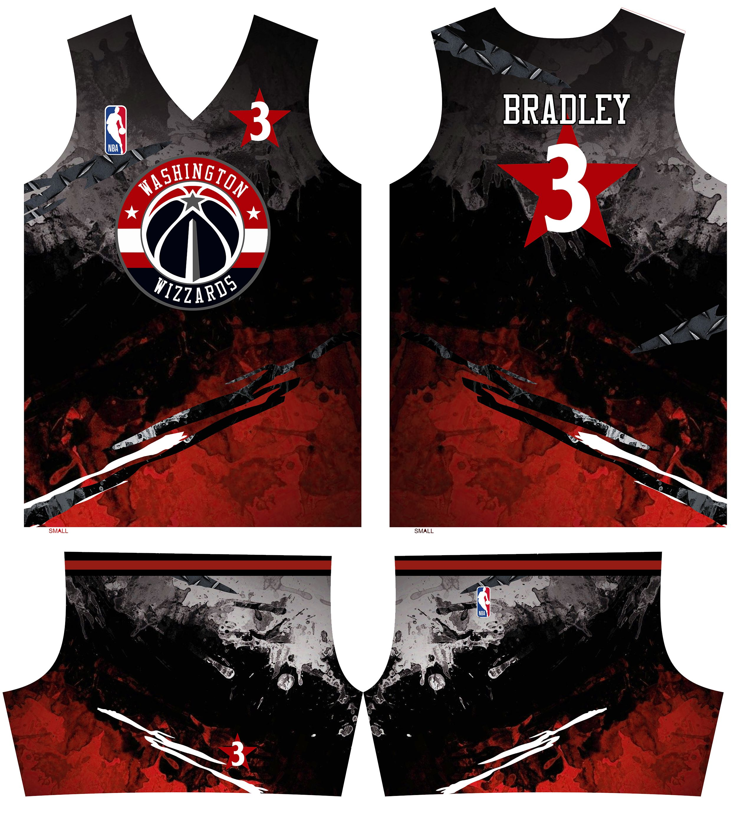 Washington Wizards Full Sublimation Design Jersey Design Basketball Jersey Basketball Uniforms Design