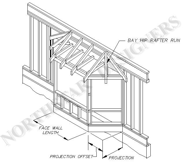 Plan for bay window addition assembly drawings or for Bay window construction details