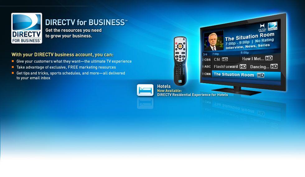DIRECTV For Business Satellite TV for Businesses