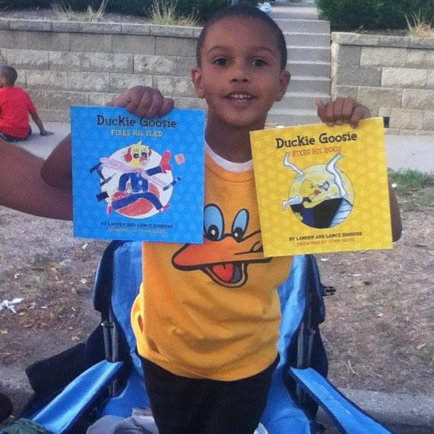 5 year old Author Landen Sanders has wrote two books!