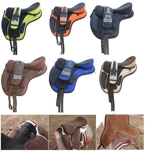 Yesrd Quality synthetic Suede Treeless Horse Saddle