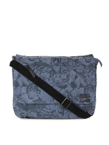 5a2735dc0c0 Kook N Keech Men Blue Avengers Messenger Bag