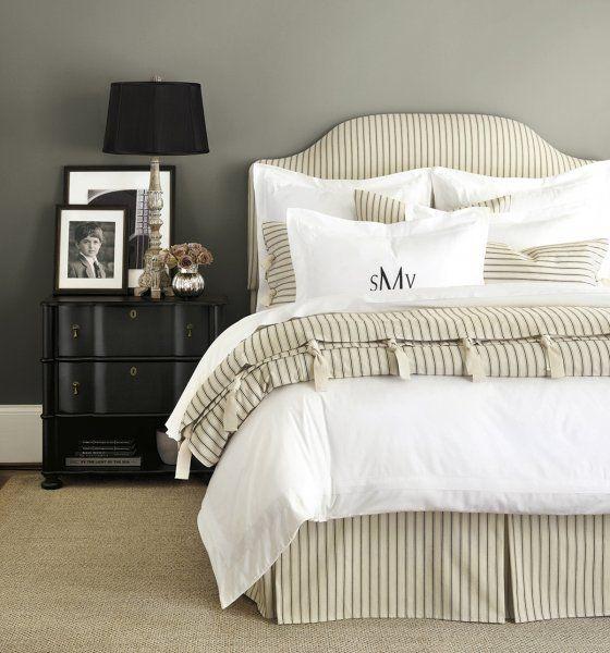 Ticking Stripe Bedding, Black Ticking Stripe Bedding