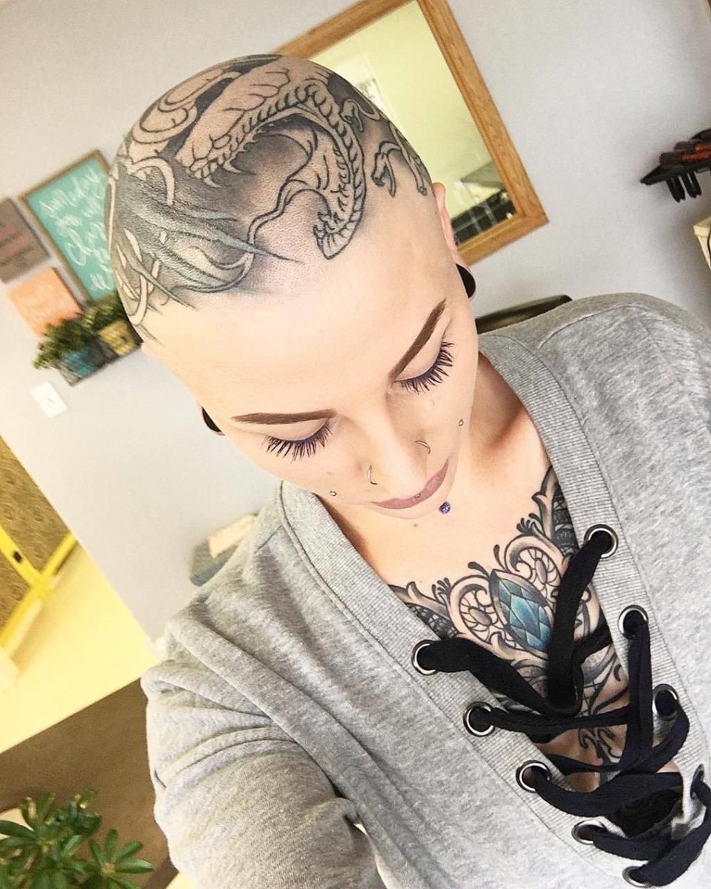 Tattoo shaved head — 10