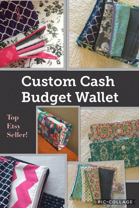 SALE- You Choose Fabric-Custom Cash Budget Wallet/ Coupon Wallet