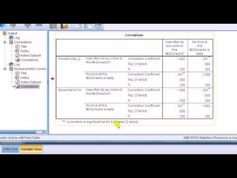 SPSS for questionnaire analysis: Correlation analysis | Stats