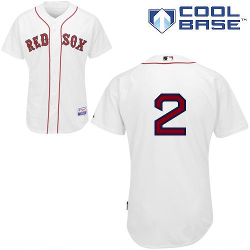 Red Sox #2 Jacoby Ellsbury Stitched White MLB Jersey