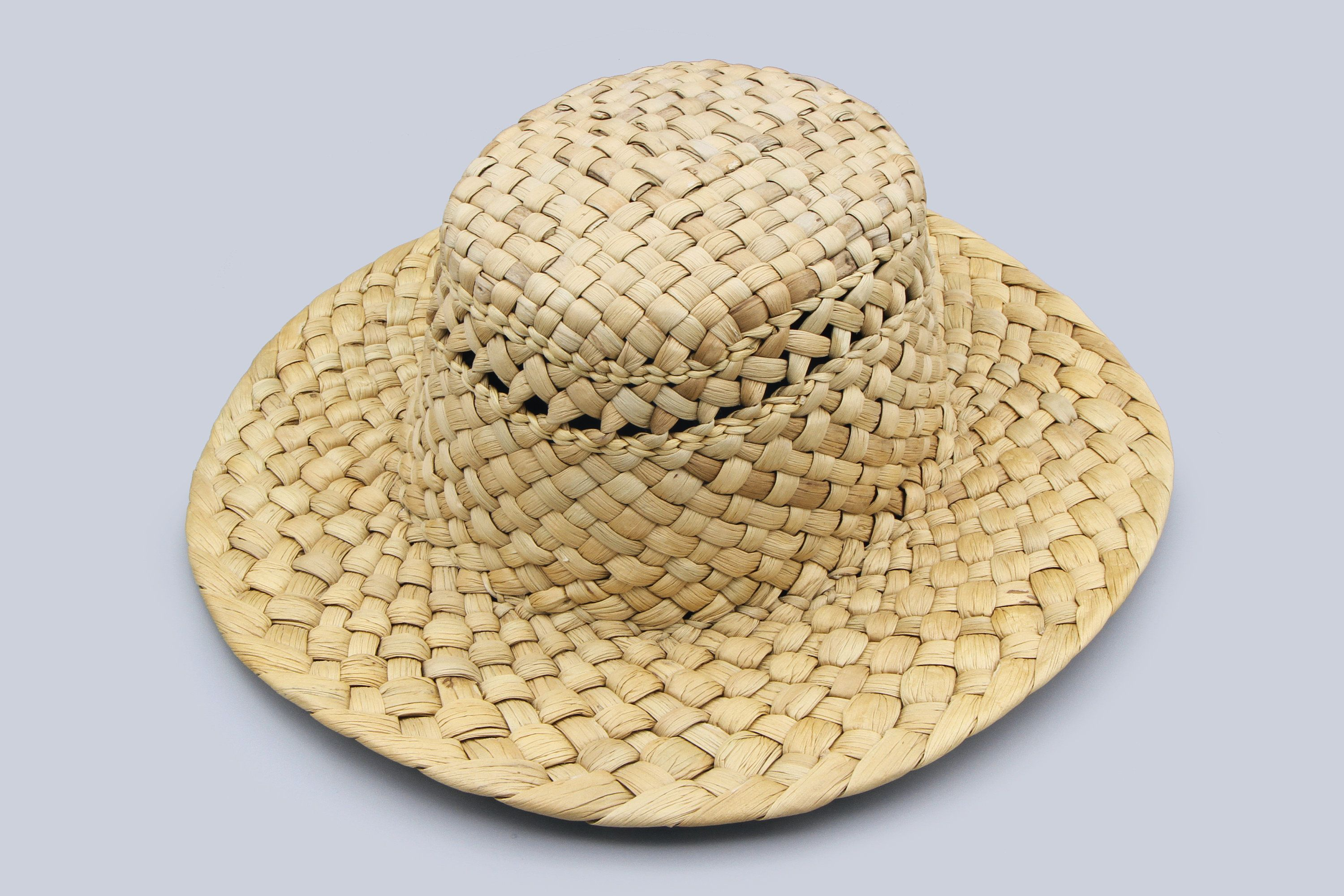 Woven Straw Hat Size S, Handmade Vegan Fashion Sun Hat