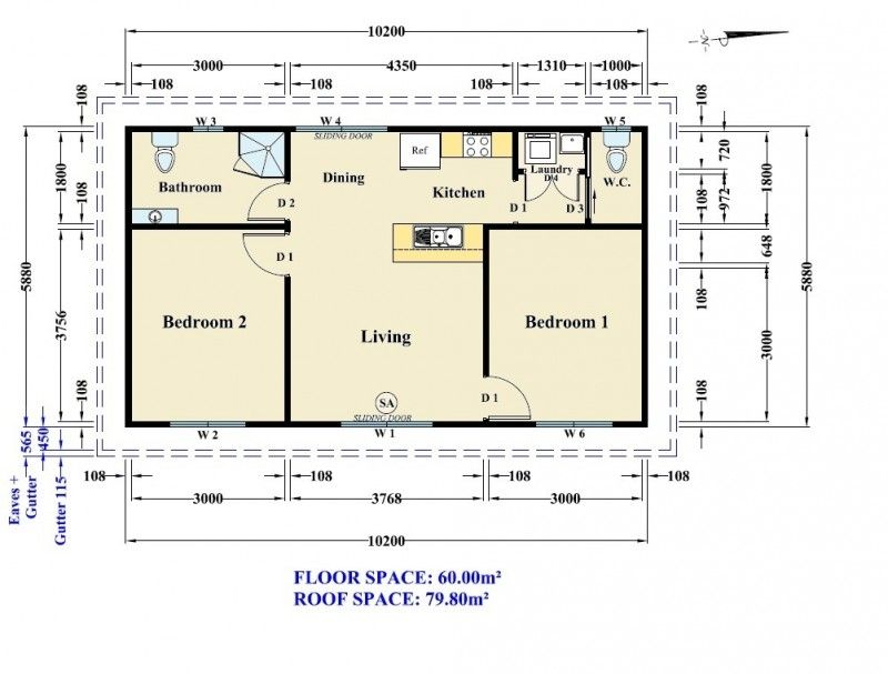 for Design layout 2 bedroom flat