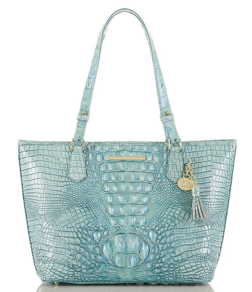 8079544a1bad5 Brahmin Melbourne Collection Crocodile-Embossed Medium Asher Tasseled Tote