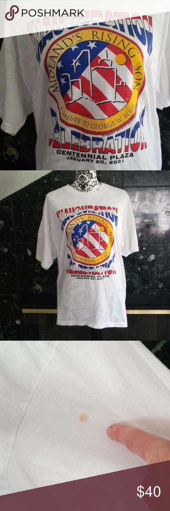 Vintage George W Bush Tee Printed Shirts Tees Mens Tops