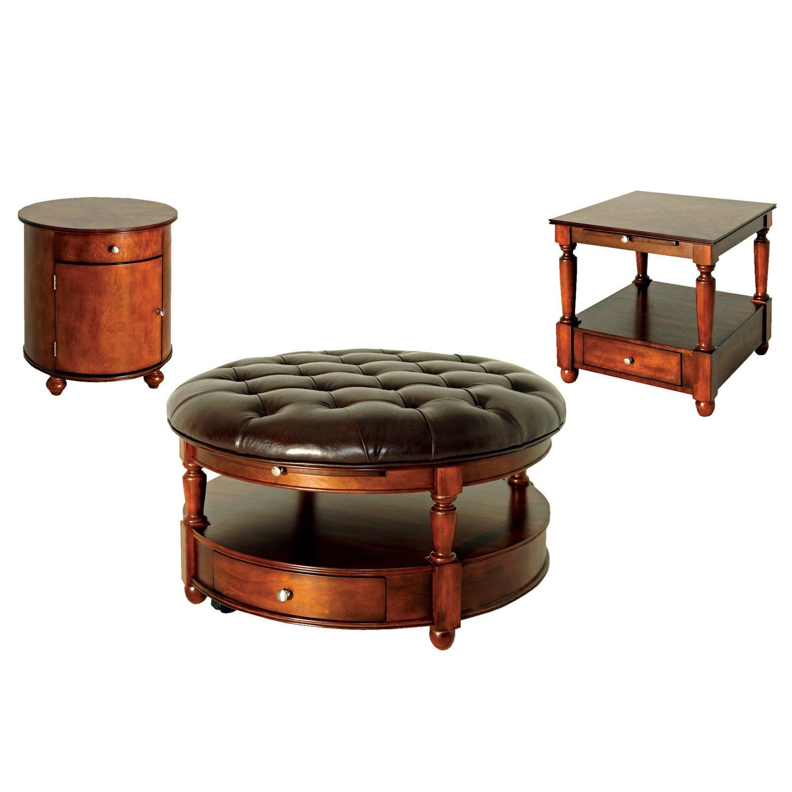 round ottoman coffee table