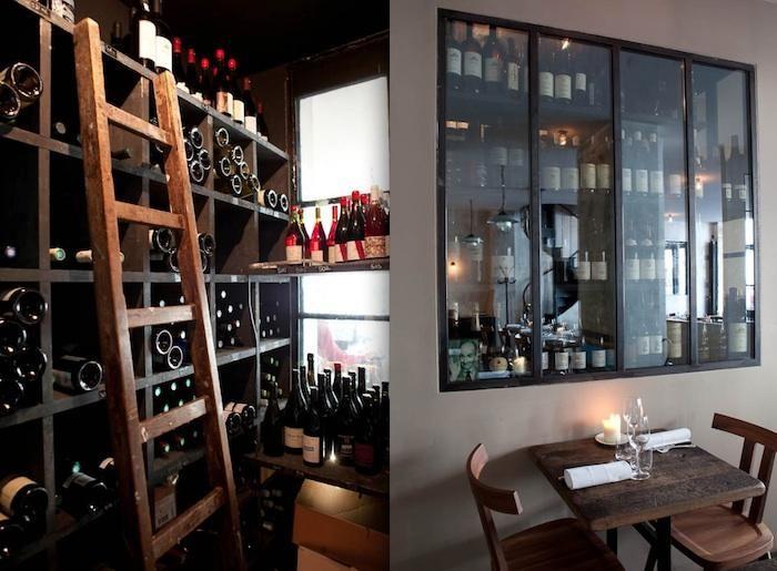 Industrial Chic In Paris Septime Restaurant Wine Closet Wine
