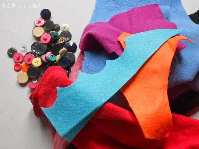 i pasticci di dani: catena in panno - tutorial