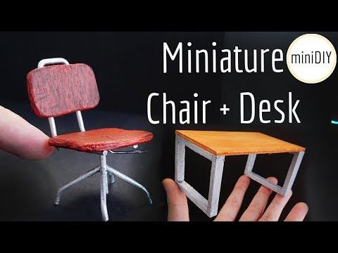 desk chair youtube ergonomic back support diy miniature office dollhouse minidiy