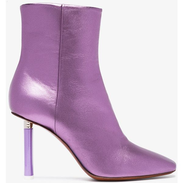 b0d50b9e6 Vetements Metallic Purple Lighter Heel 95 Ankle Boots ( 1