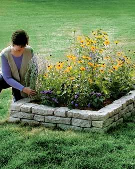 diy raised bed disguised as new england stone wall - Vegetable Garden Ideas New England