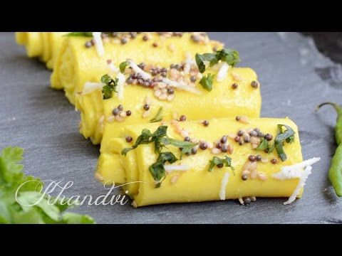 Khandvi Is A Popular Gujarati Snack Made Using Buttermilk And Chickpea Flour Here Is A Recipe With Tips Khandvi Recipe Indian Food Recipes Vegetarian Recipes