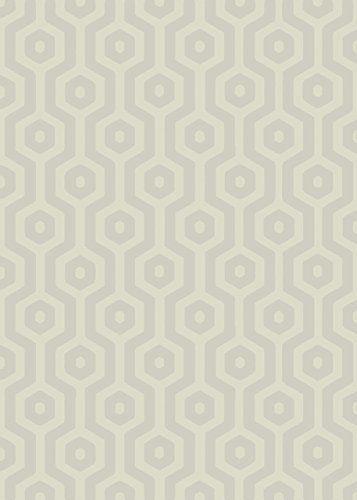 Teppich modernes Design ECHO GEO RUG TAUPE 160 cm x 230 cm   - Teppich Wohnzimmer Braun