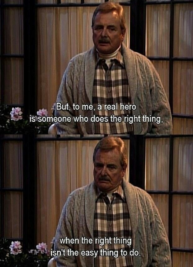 A real hero... said well by Mr. Feeny | Boy meets world quotes ...