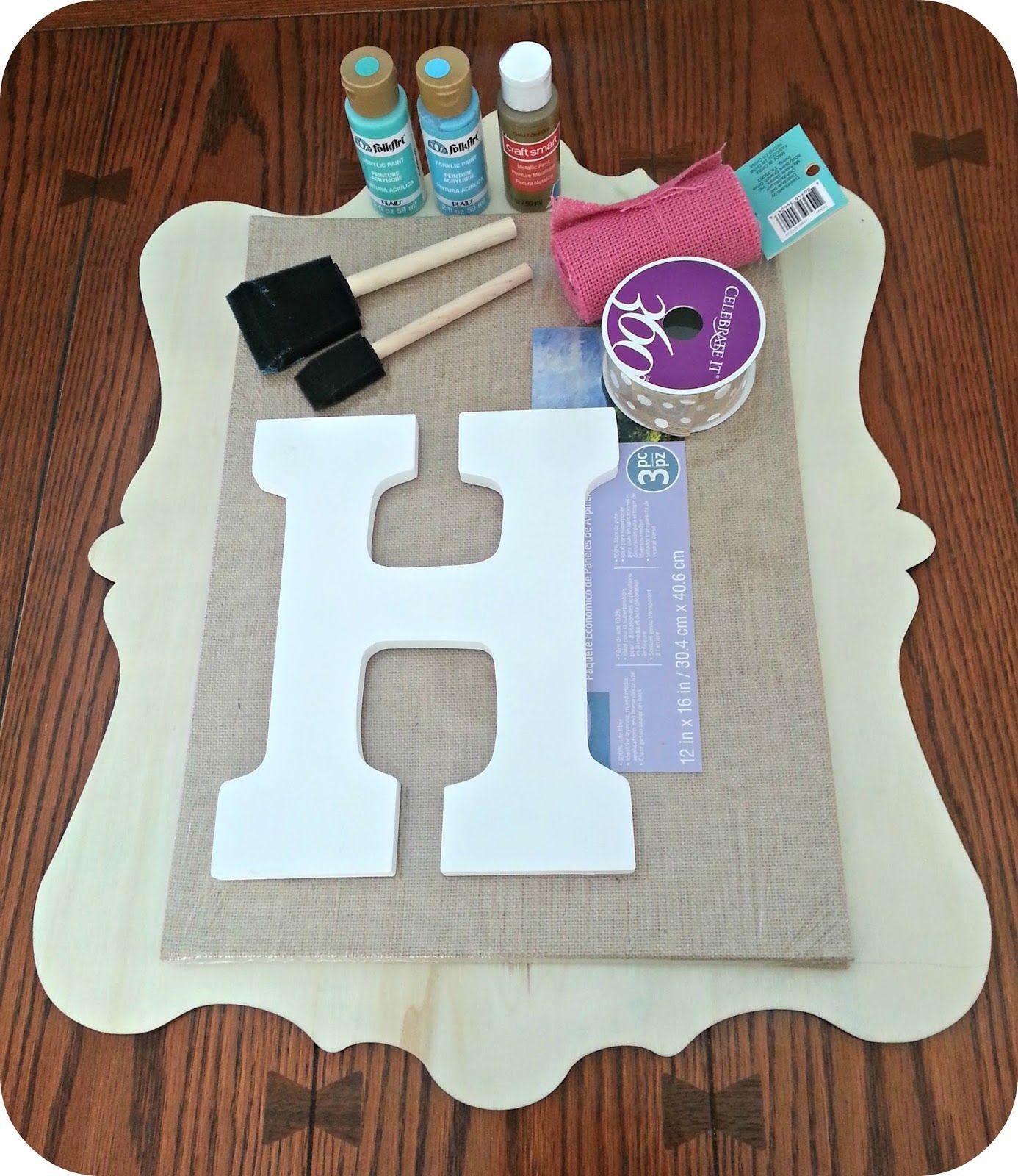 DIY Monogram Door Hanger | Polka Dots in the Country & DIY Monogram Door Hanger | Polka Dots in the Country | wreath ...