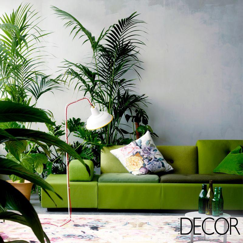 Greenery, a cor do ano eleita pela Pantone, permite criar um décor sofisticado em harmonia com a natureza