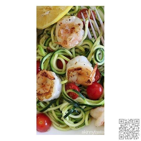 #Zucchini Noodles with #Lemon-Garlic Spicy #Shrimp | #Eatial #Noodle