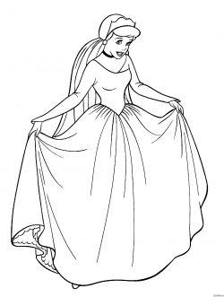20 Dessins De Coloriage Cendrillon Princesse à Imprimer