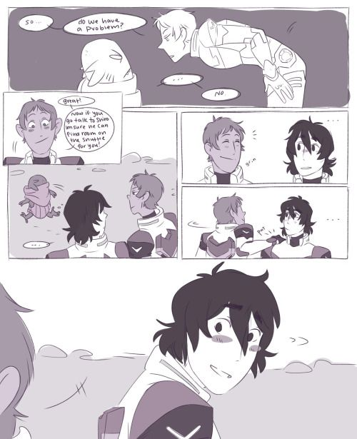 2/2 Keith is galra and lance is precious