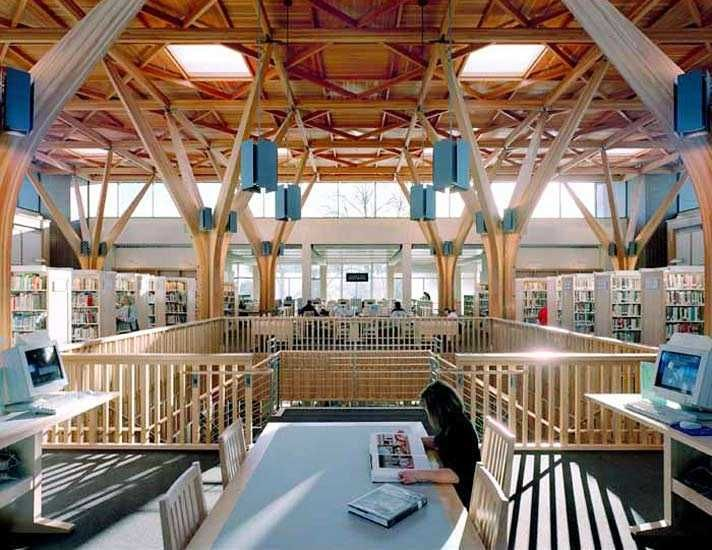 Tha Architecture Beaverton City Library Beautiful Ceiling
