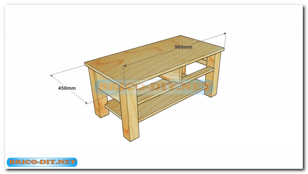 Plano como hacer mesa de centro madera web del bricolaje for Planos muebles madera