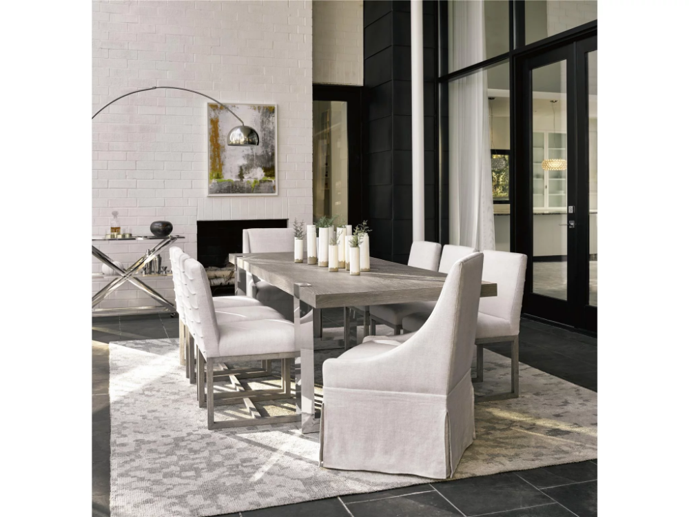 Modern Desmond Dining Table Universal Furniture Side Chairs