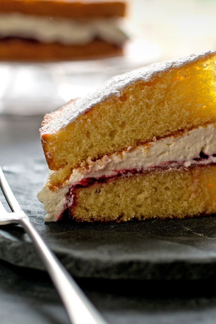 This Traditional British Layer Cake Is Made Up Of Two