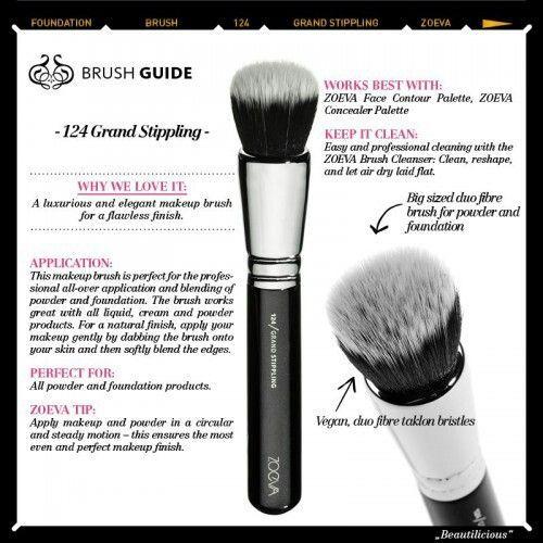 124 Grand Stippling Brush by zoeva #11