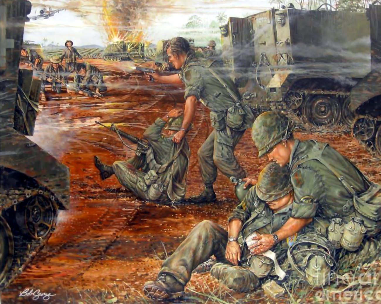 Pin On Vietnam War Art