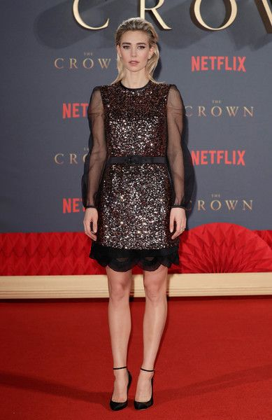 """Actress Vanessa Kirby attends the World Premiere of season 2 of Netflix """"The Crown"""" at Odeon Leicester Square on November 21, 2017 in London, England."""