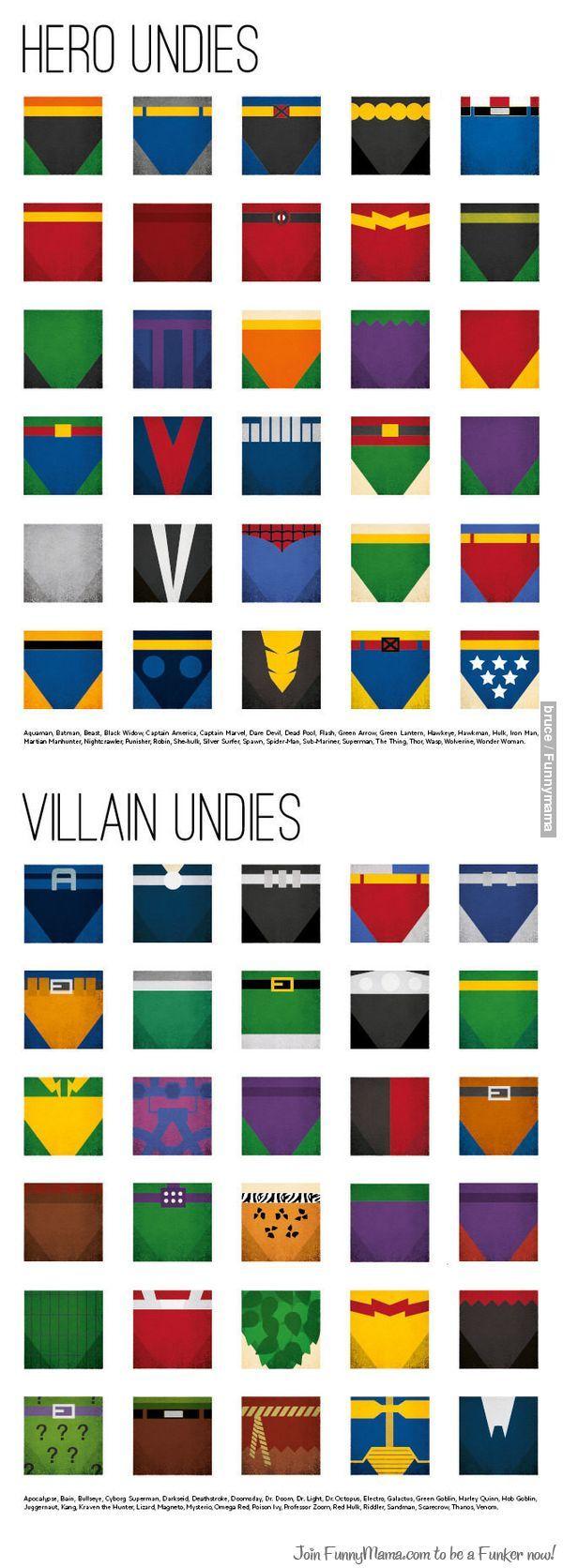 Hero And Villain Undies