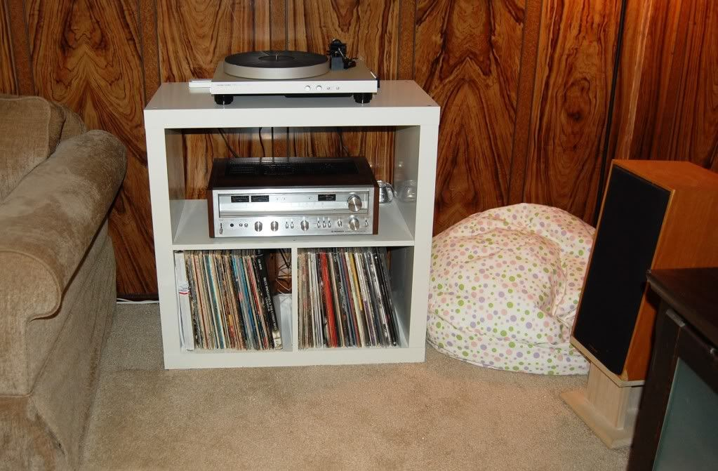 Modified Expedit Rack | Furniture | Pinterest | Stereo cabinet ...