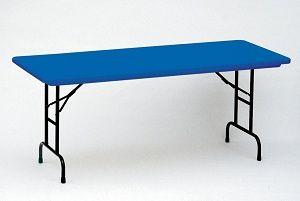 Adjustable Leg Folding Table Correll Ra3072 C Colored