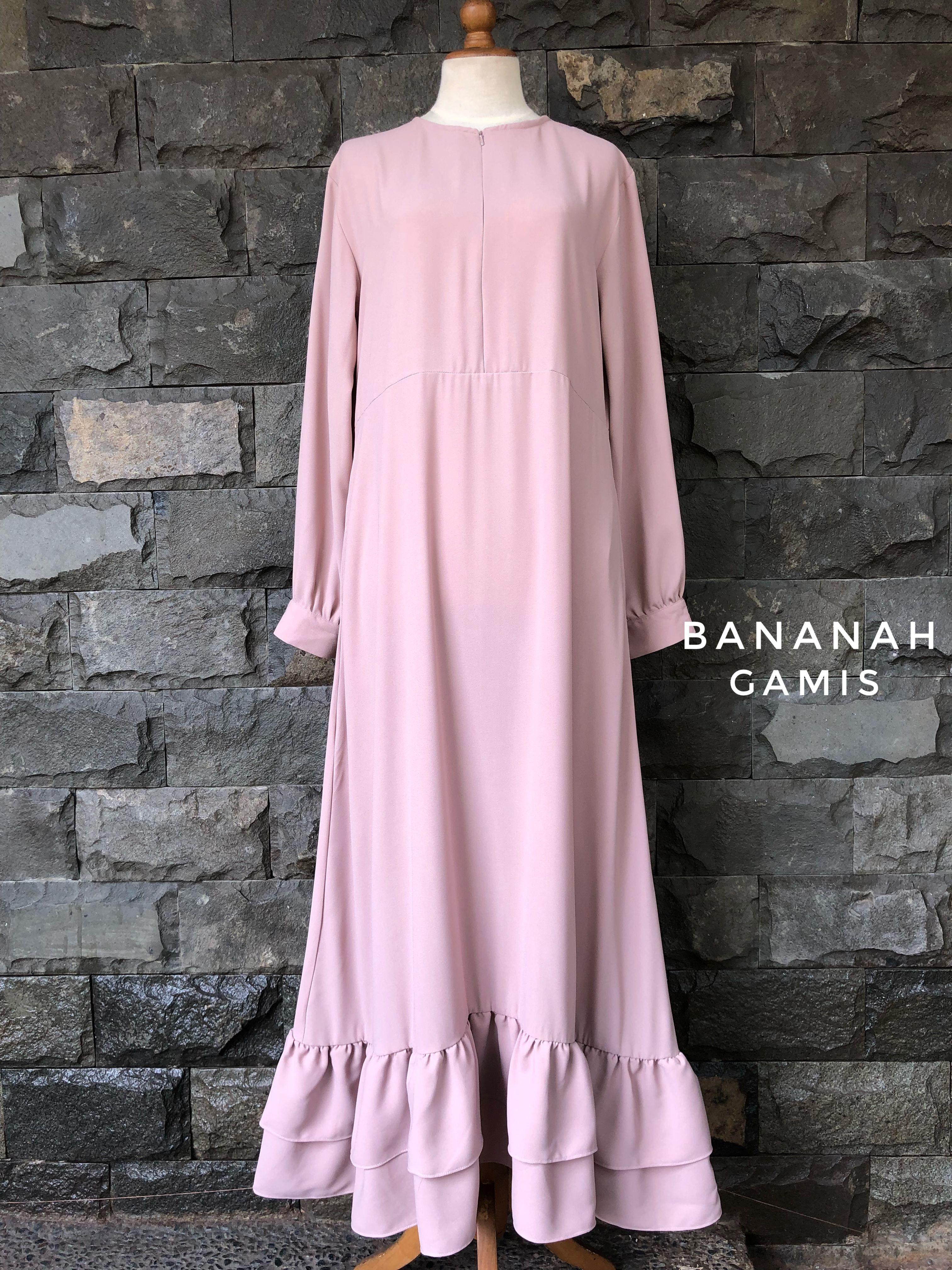 bananah gamis  Model pakaian muslim, Model pakaian hijab, Pakaian