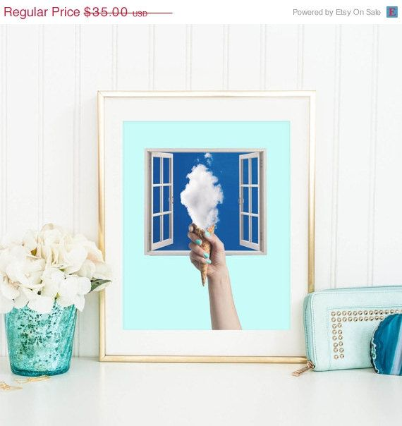 SALE 30% OFF Ice cream print  Collage Ice by ArtisticSideOfLife
