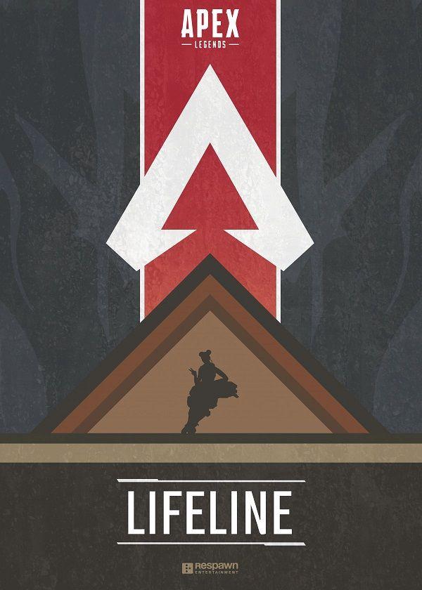 "Apex Legends Character Silhouettes Lifeline #Displate explore Pinterest""> #Displate artwork by artist ""Jude Beavis"".… | Displate thumbnail"
