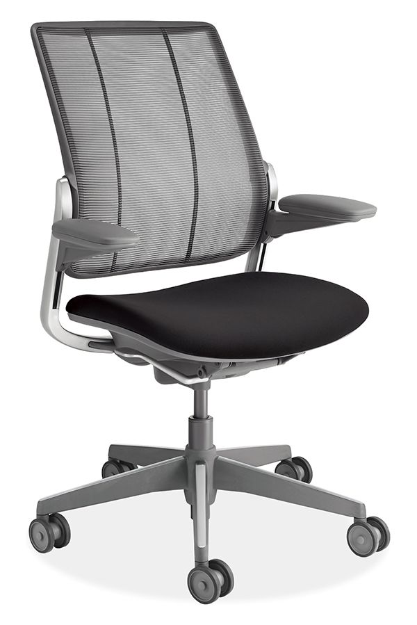 Diffrient Smart Chair Folding Padded Made By Humanscale The Has A Three Panel Backrest That Provides Exceptional Lumbar Support Back Is From Form Sensing Mesh