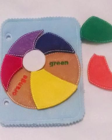 Learn Your Colors Beach Ball Quiet Book Puzzle Page Qb92 Felt