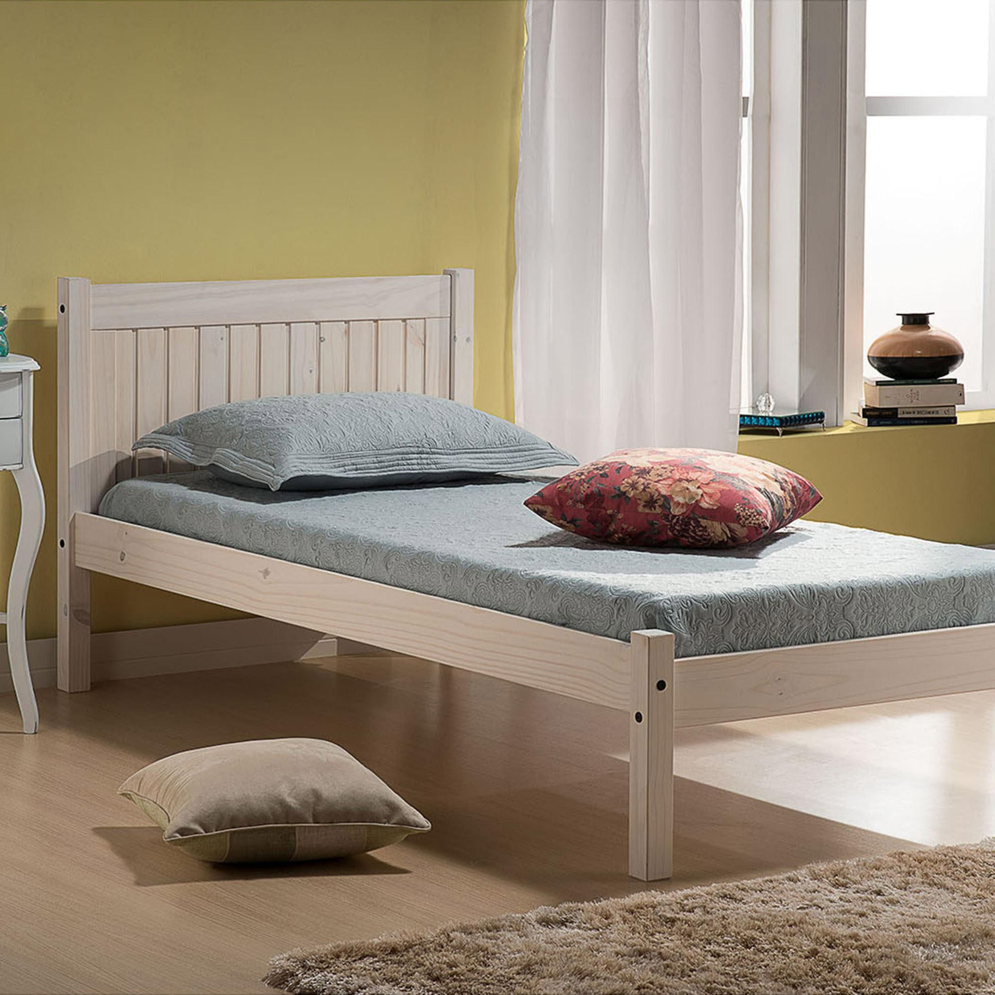Rio Whitewash Bedstead In 2020 Wooden Bed Frames Bed Frame